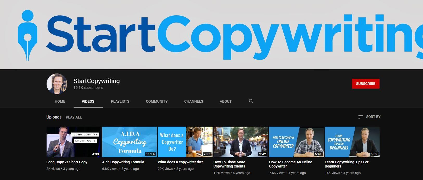StartCopywriting YouTube