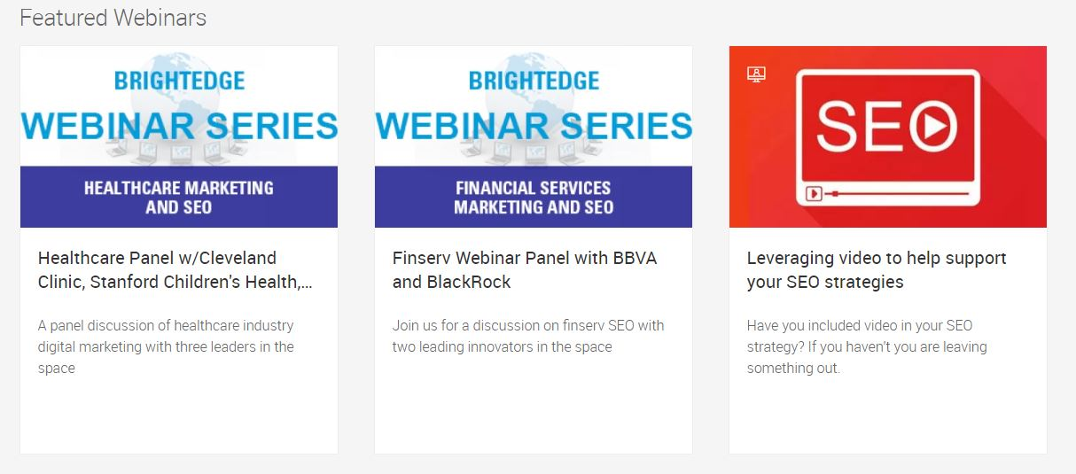 Brightedge webinars