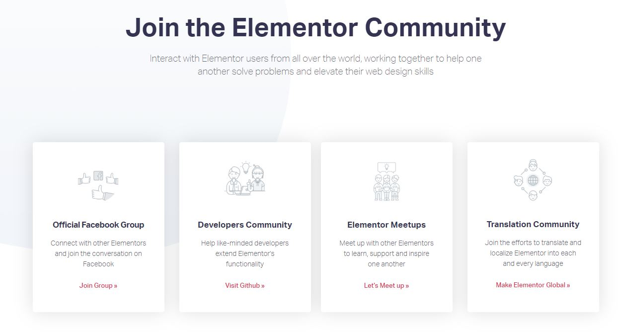 Elementor communities 1