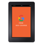 Free SEO course tablet