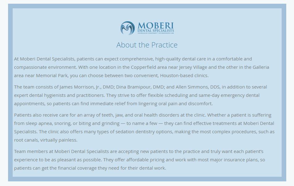 Moberi dental