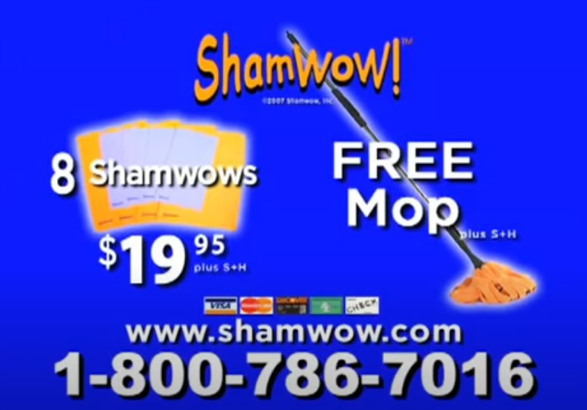 Shamwow end screen