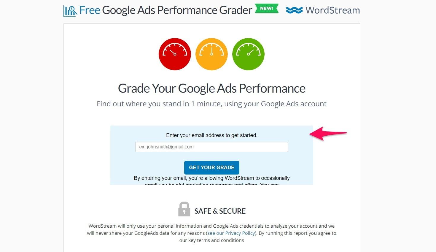 WordStream ad grader