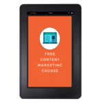 Content marketing course tablet
