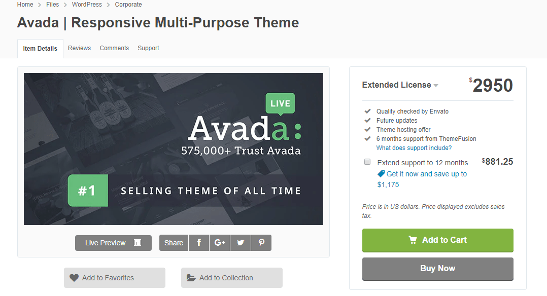 Avada extended