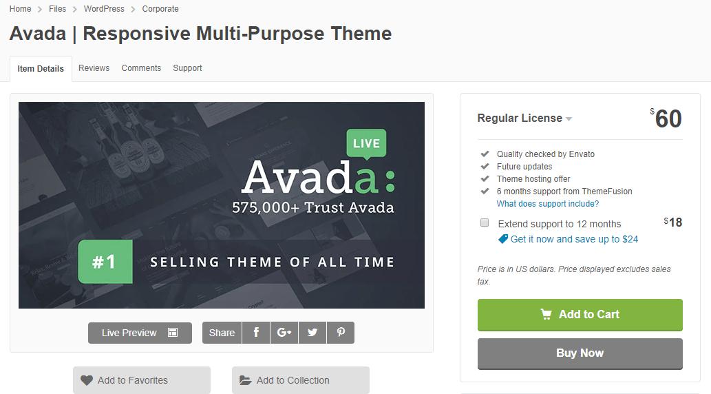 Avada regular license 1