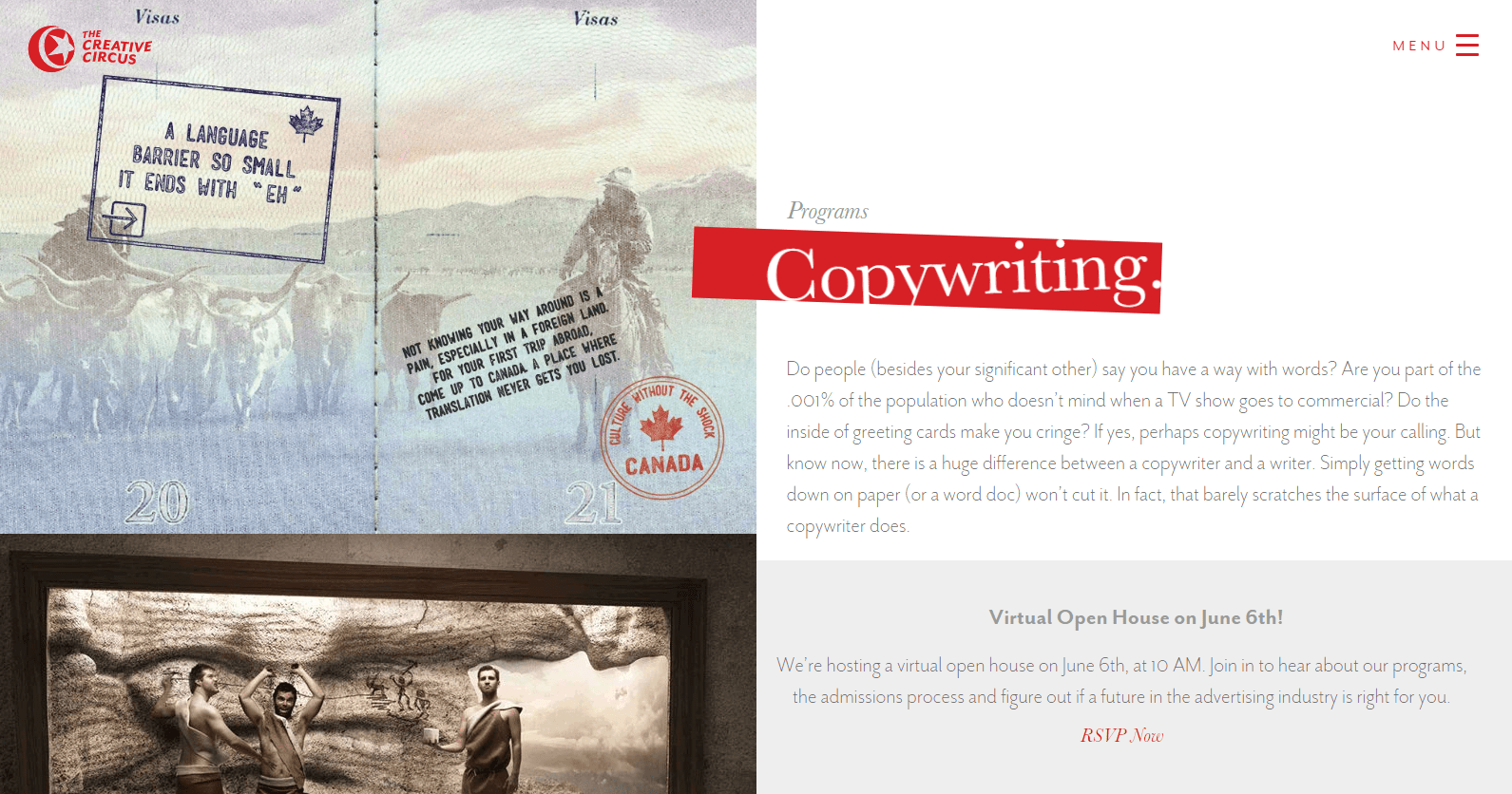 Copywriting Portfolio school