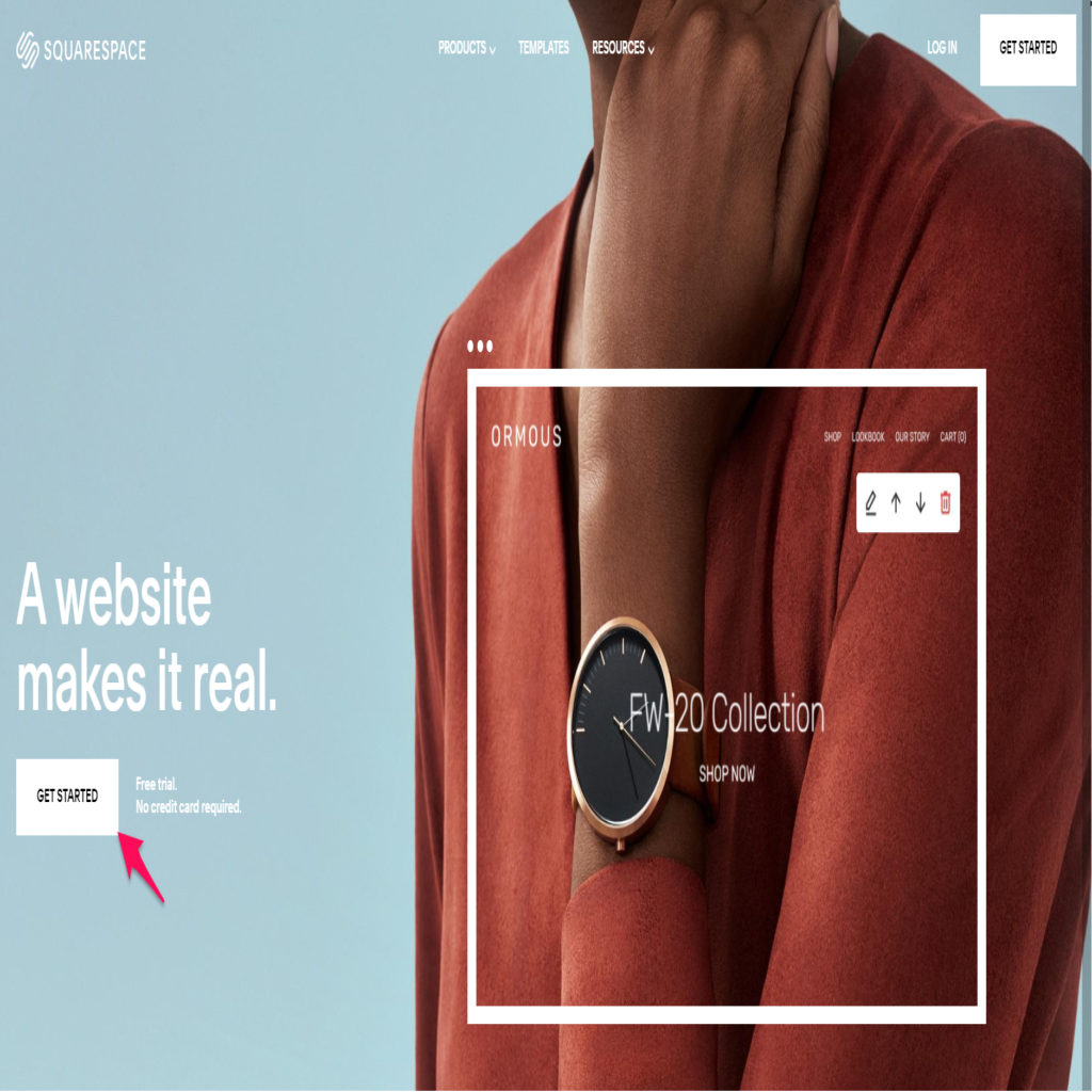 Get started on Squarespace
