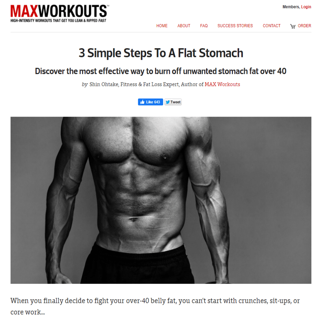 MaxWorkouts example