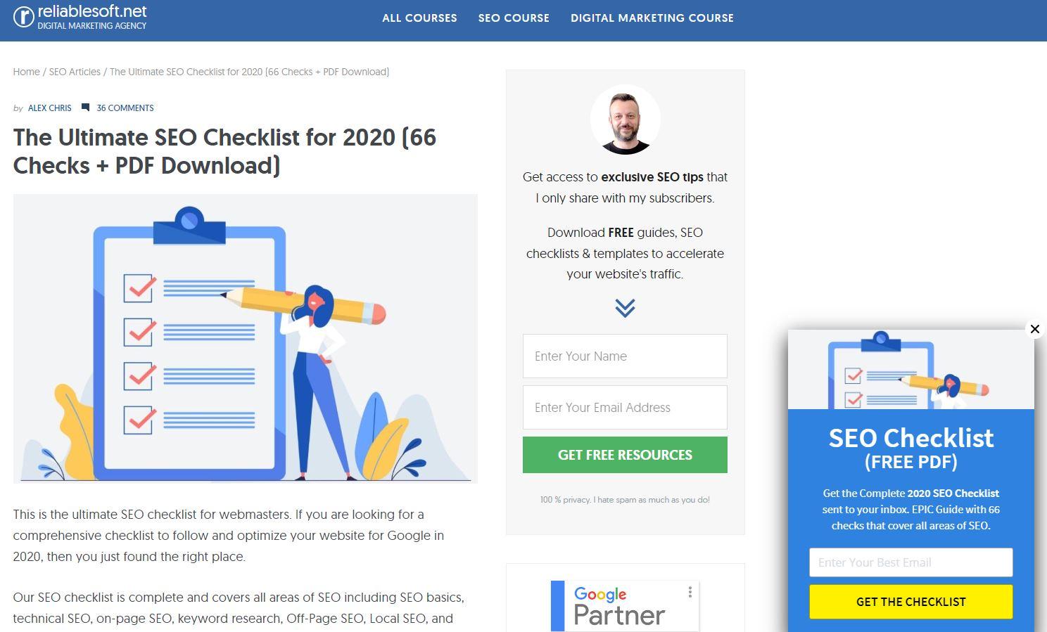 Reliablesoft checklist