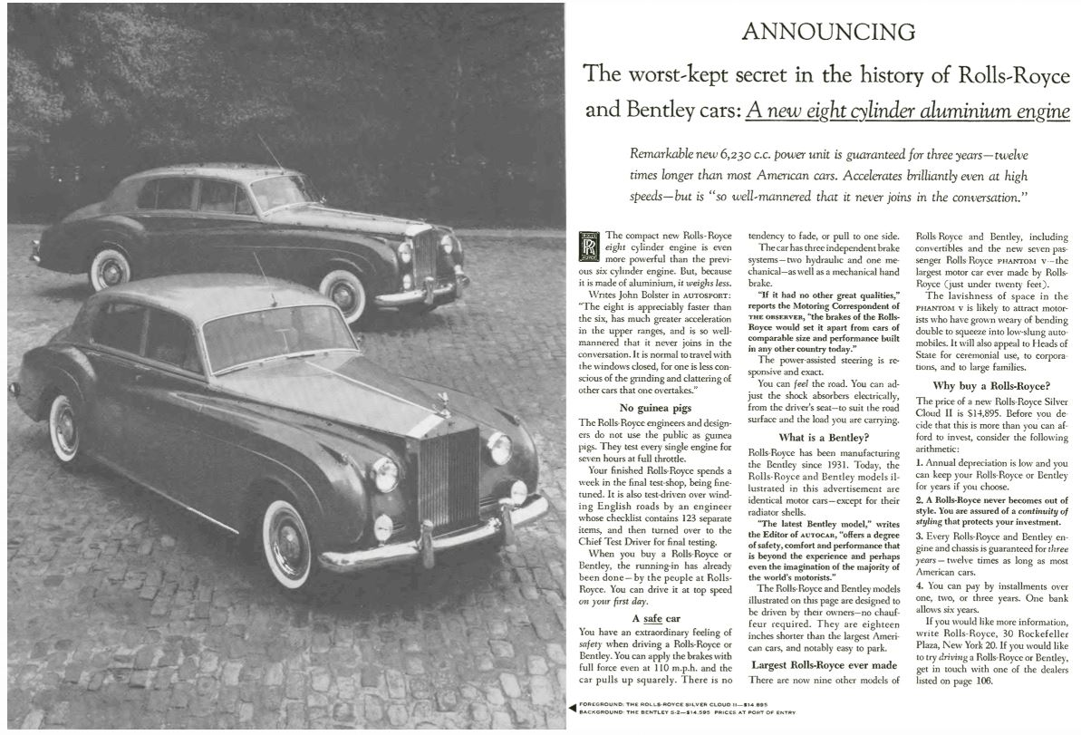 Rolls Royce worst kept secret