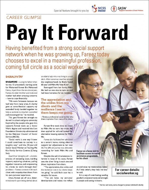 Social worker advertorial