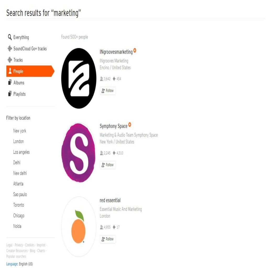 Soundcloud search