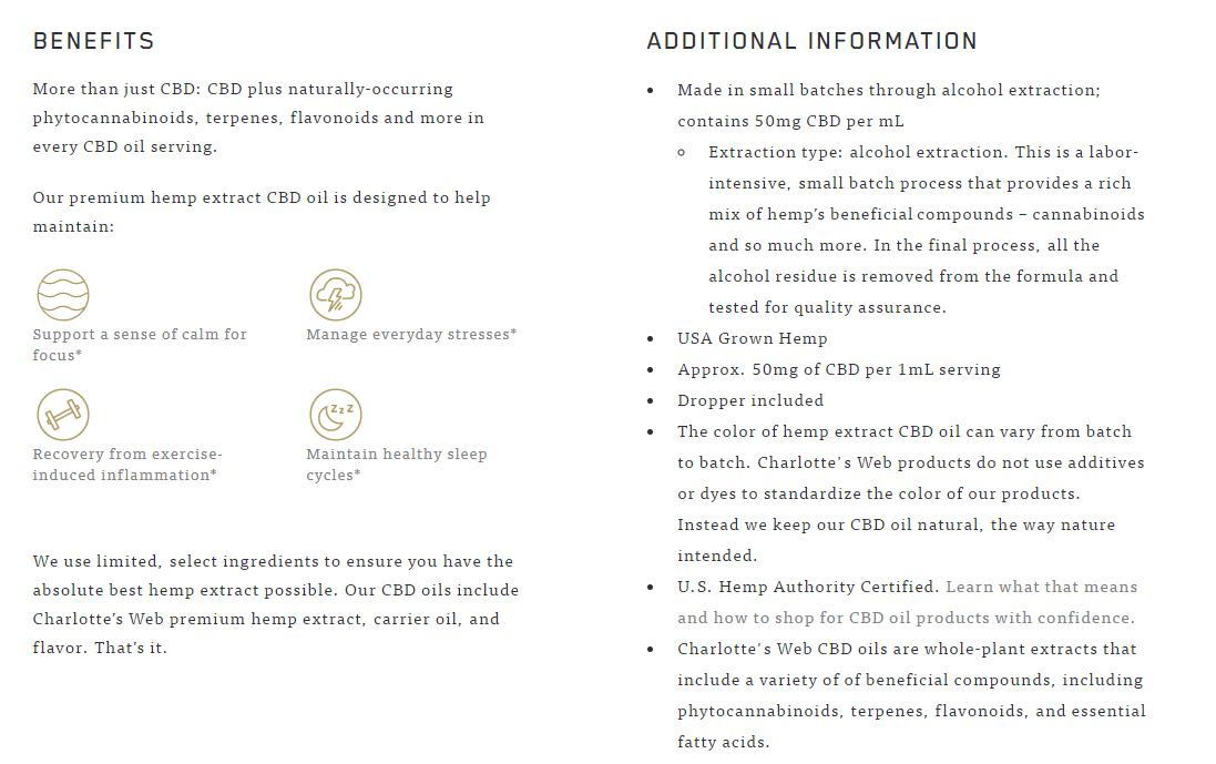 CBD product page