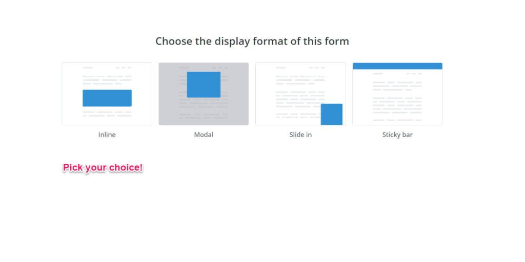 Convertkit form type