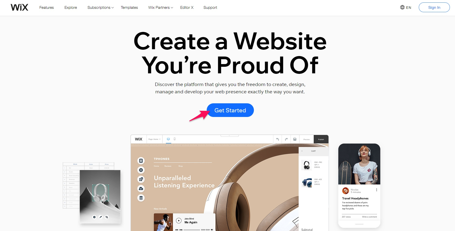 Get started on Wix