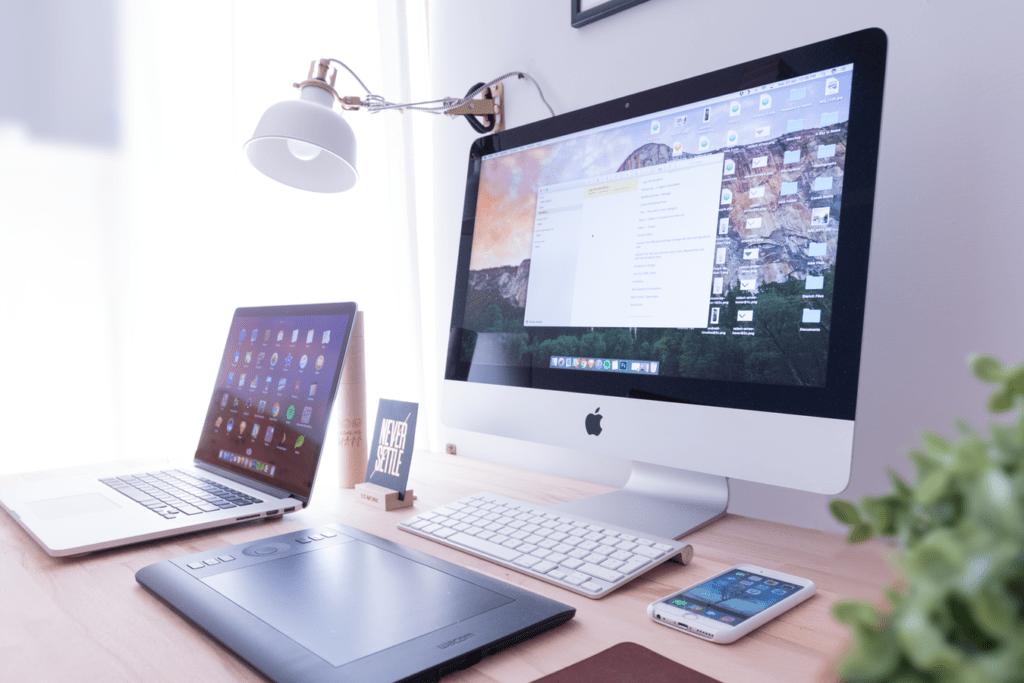 Laptop and desktop setup