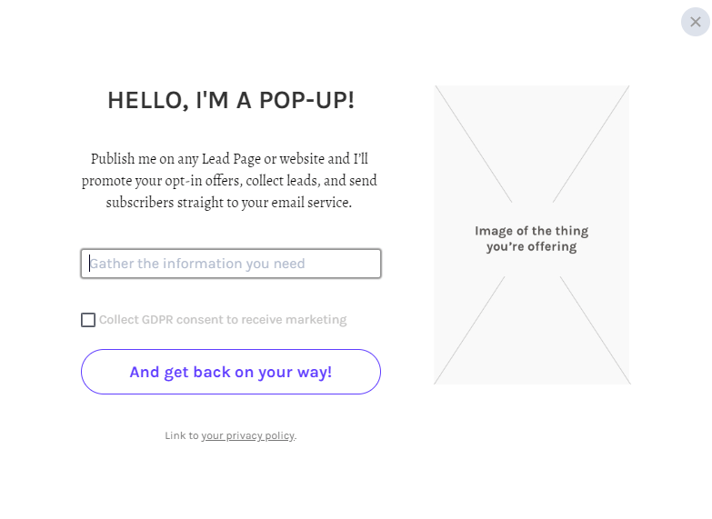 Leadpages popup