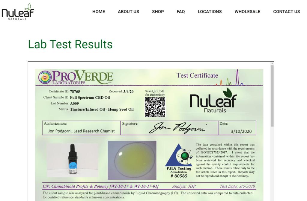 Nuleaf results 1