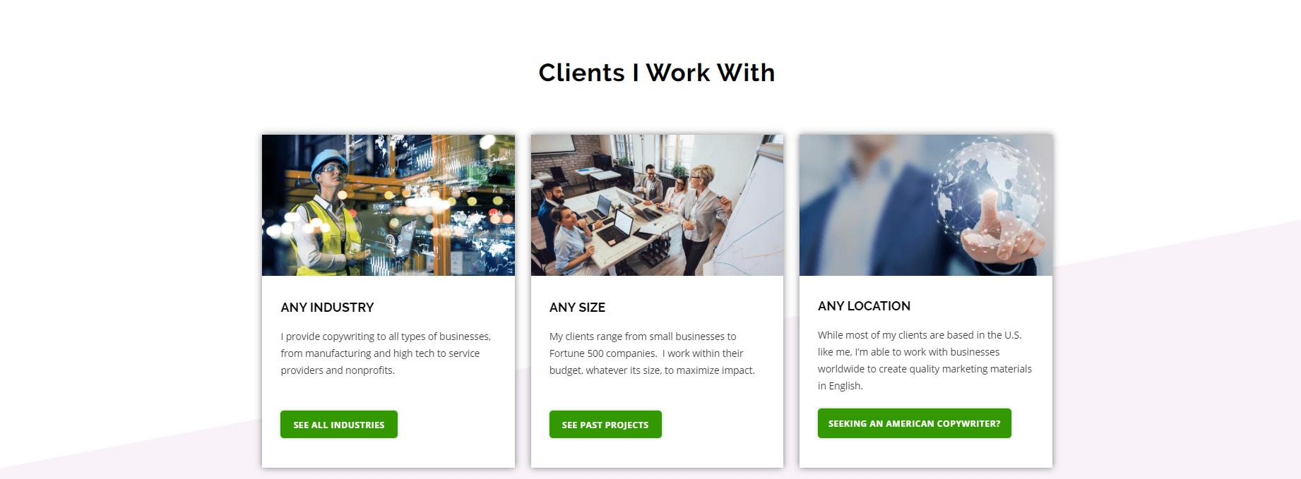 Susan Greene clients