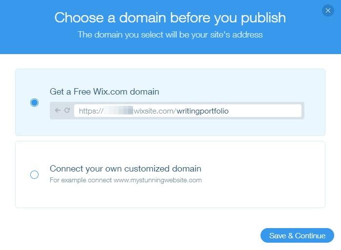 Wix publish site