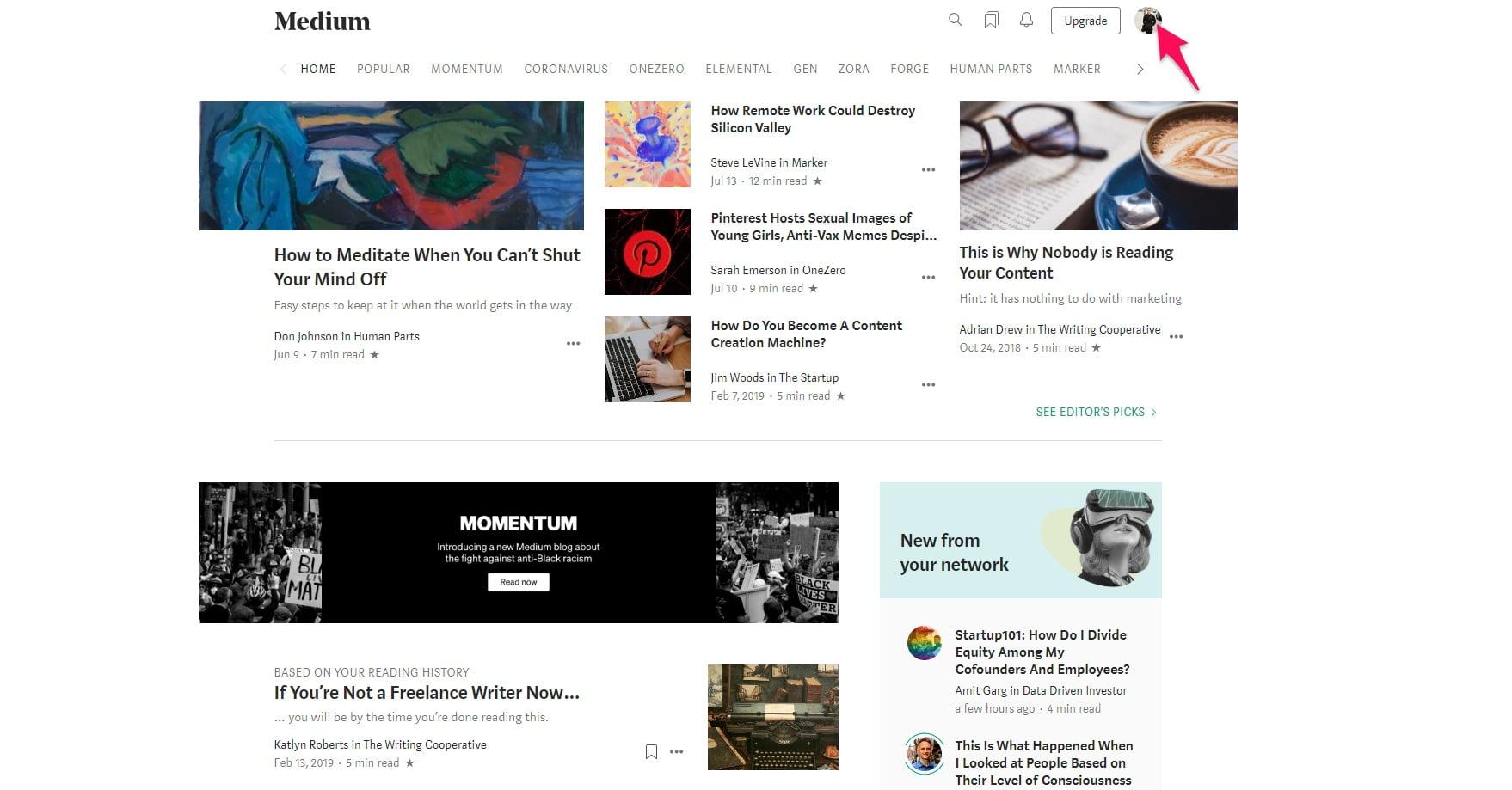Adding a story on Medium