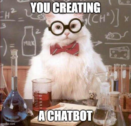 Chatbot cat meme