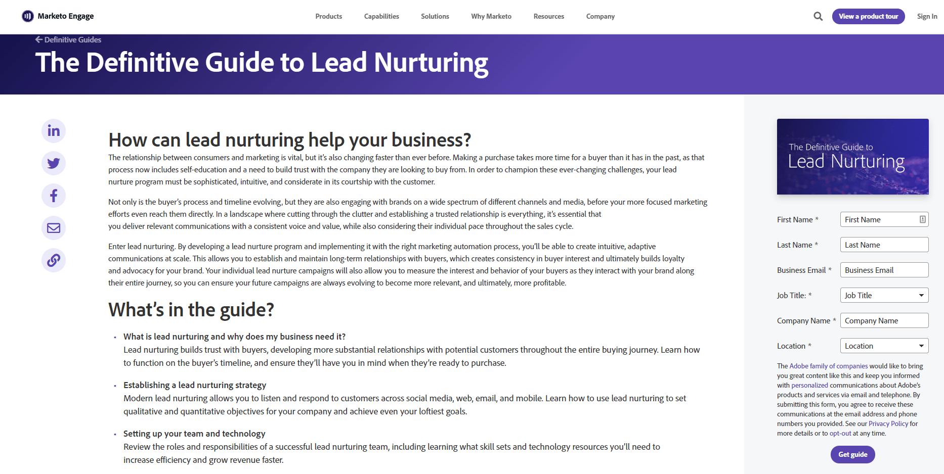 Marketo lead nurture guide 1
