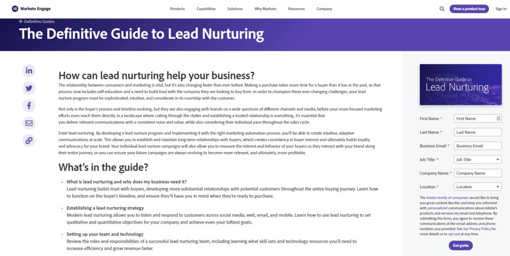 Marketo lead nurture guide