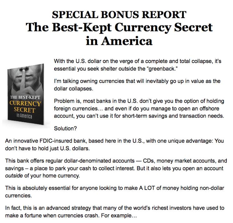 Gold investing bonus
