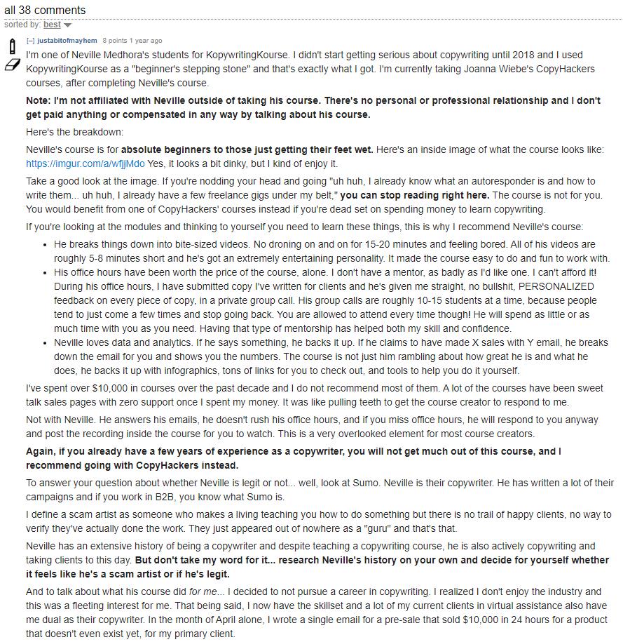 KopywritingKourse review
