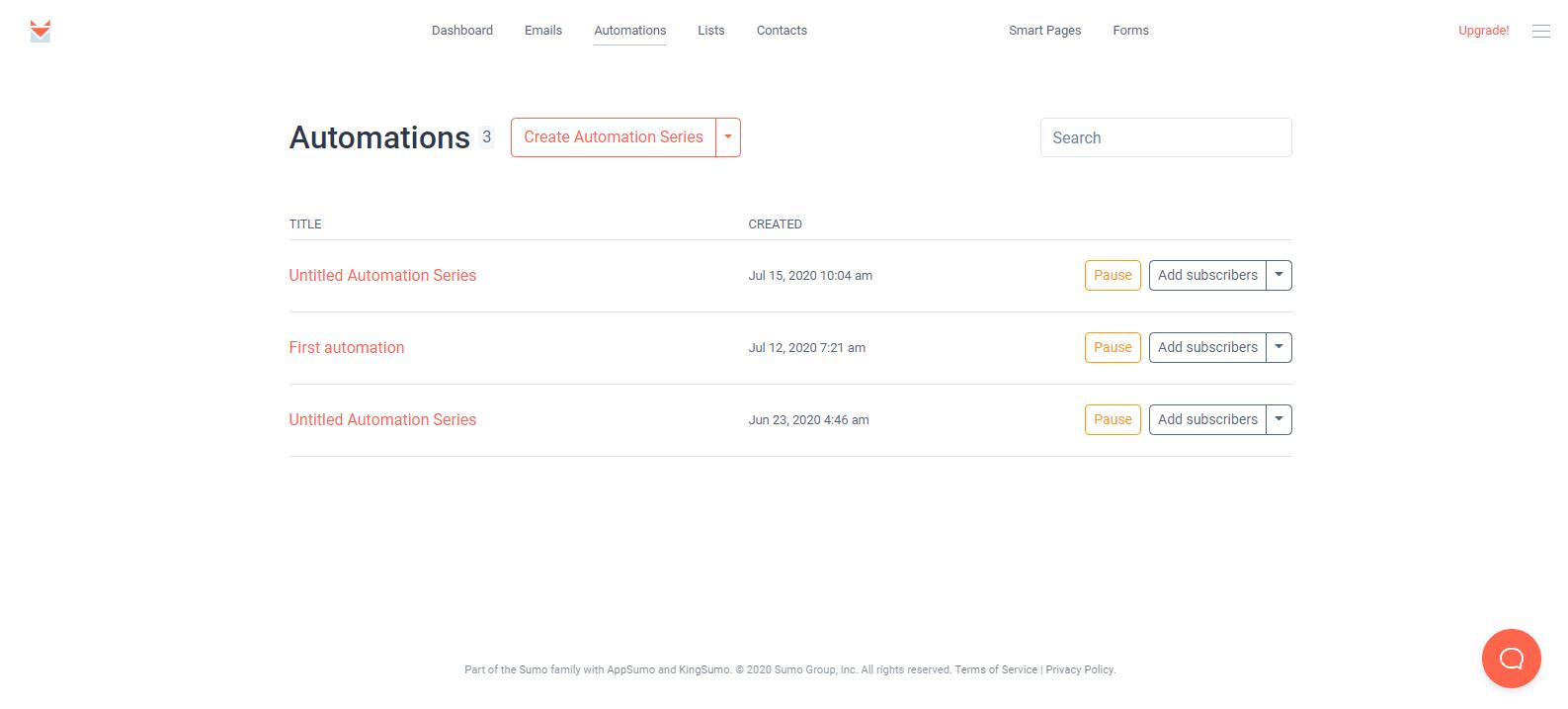 SendFox automations
