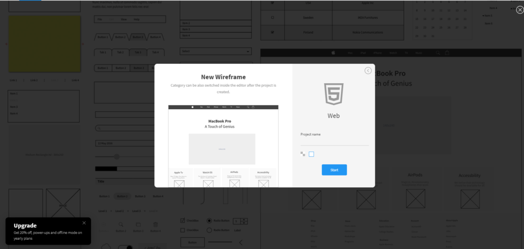 Wireframe project name