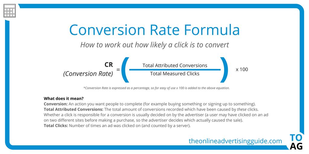 Conversion rate formula 1