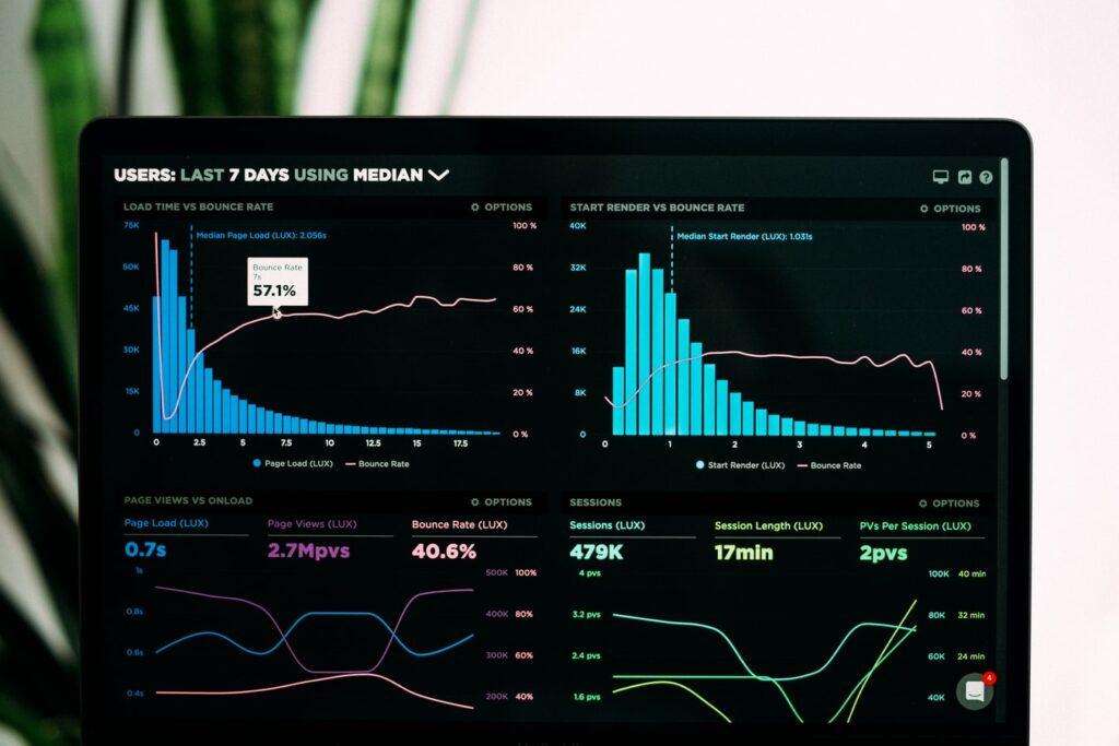 Data on screen