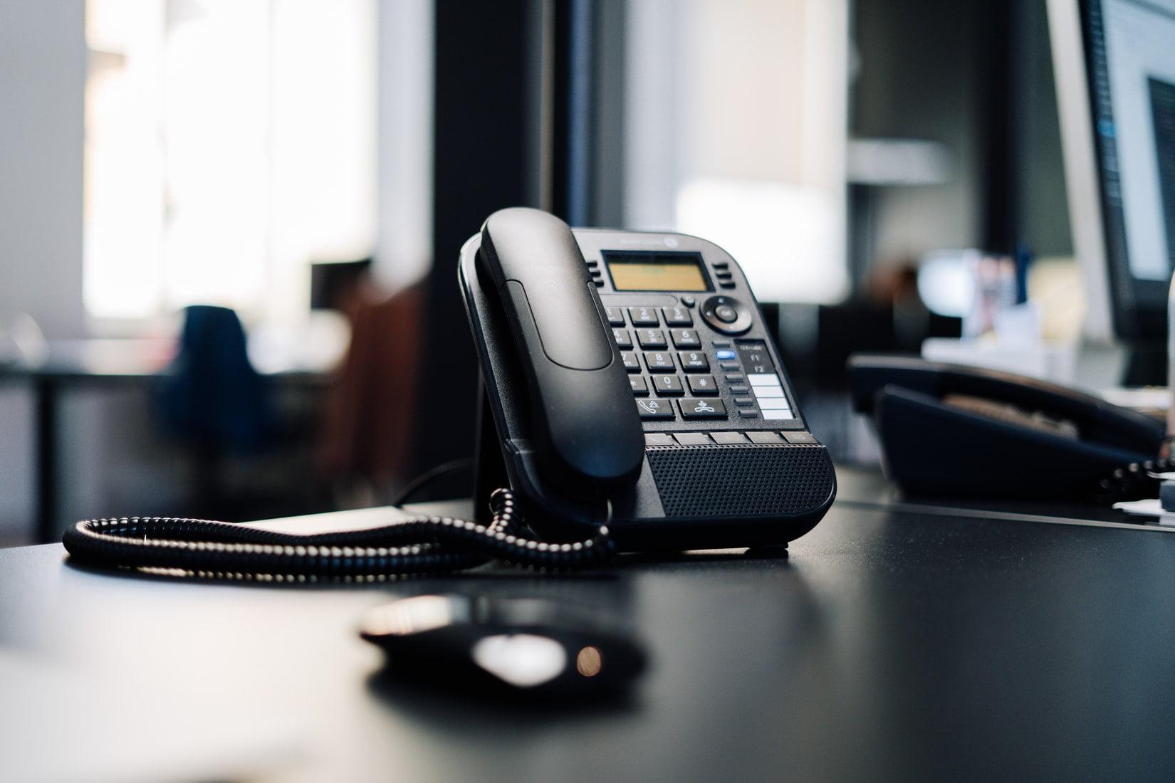 Phone on office desk