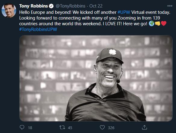 Tony Robbins tweet