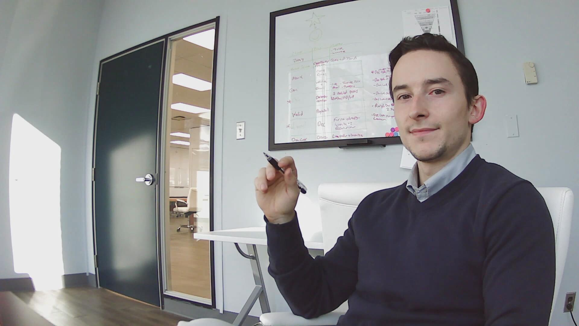 Toronto copywriter in the office 1