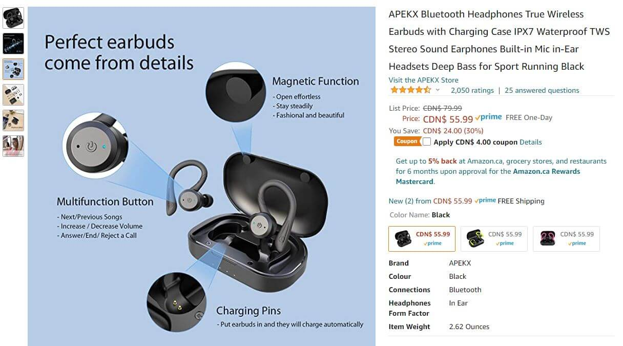 Amazon copywriting example