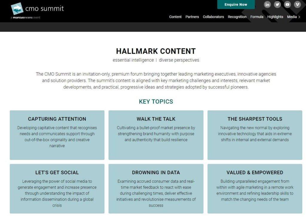 CMO summit tone of voice example
