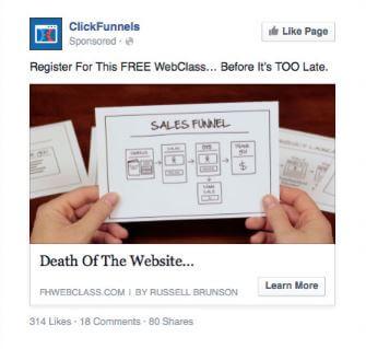 ClickFunnels ad