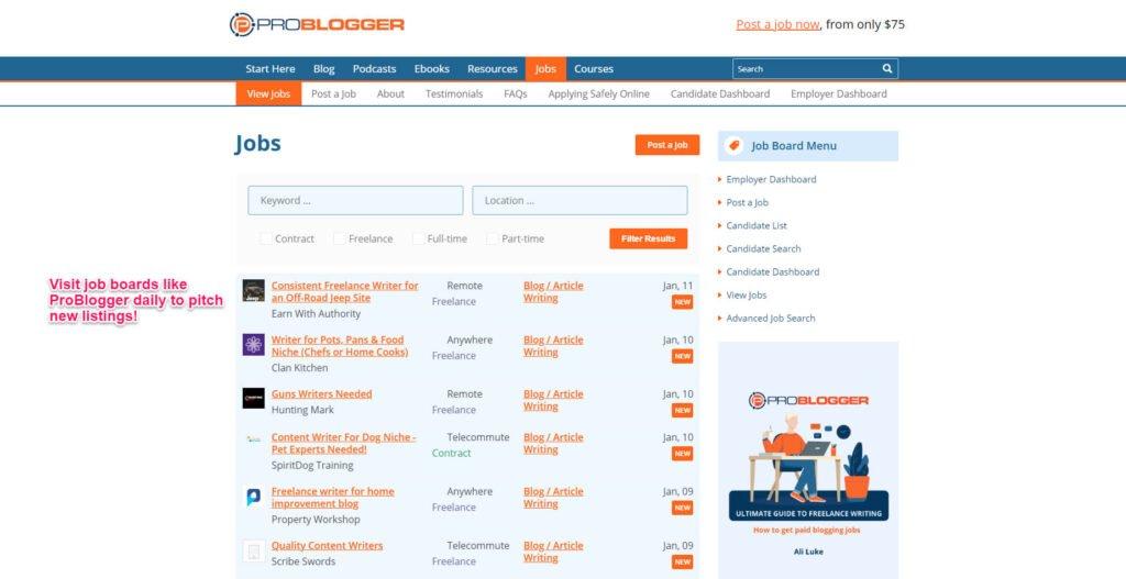 ProBlogger job page