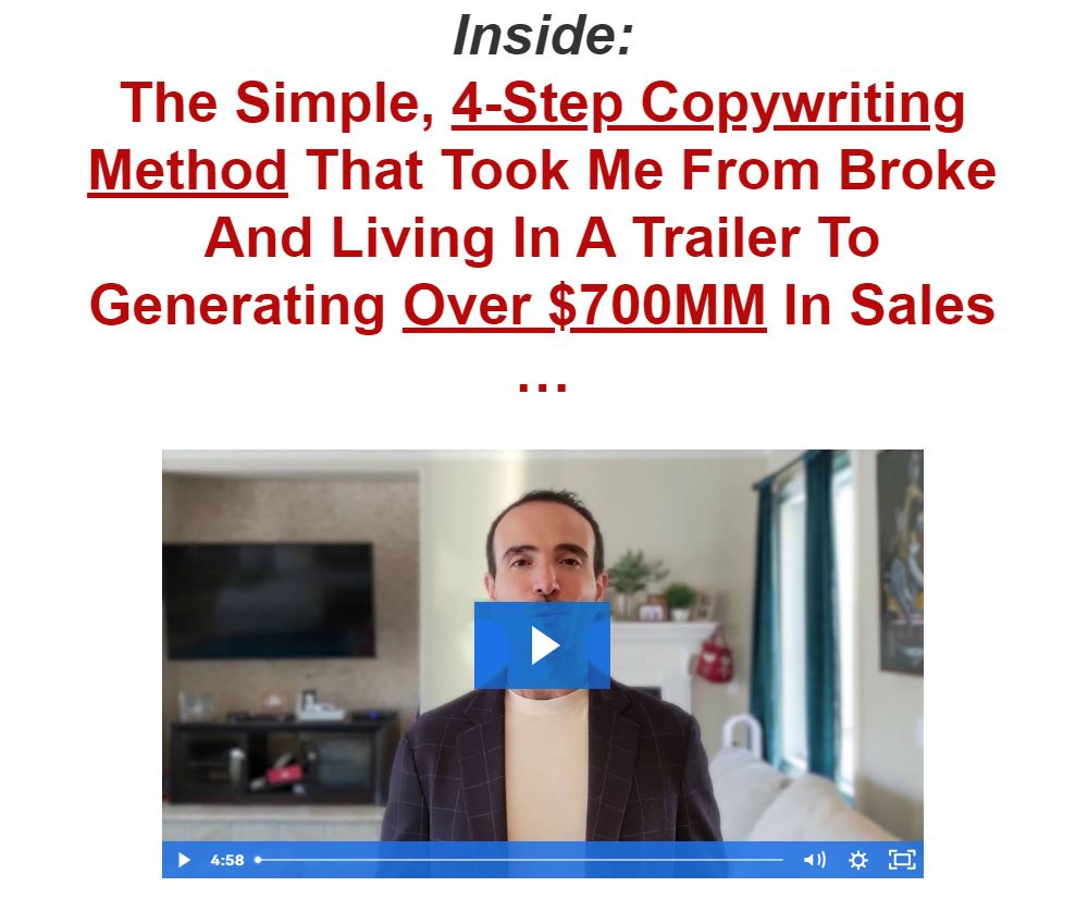 RMBC Method persuasive copywriting example
