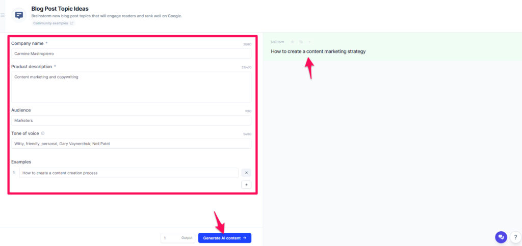 Conversion ai blog post generator