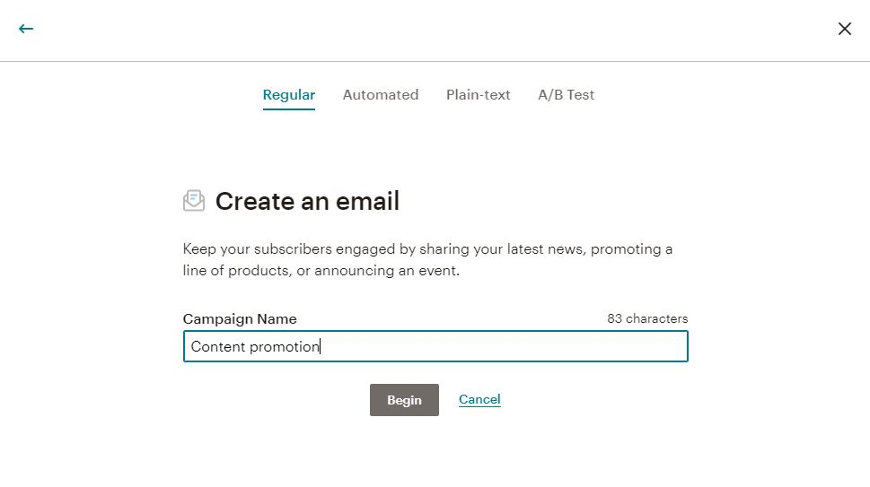 Mailchimp campaign name