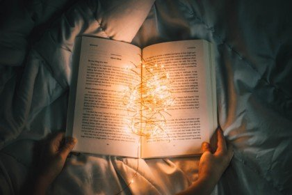 A book with lights