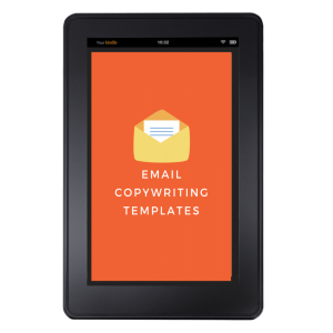 Email copywriting template tablet